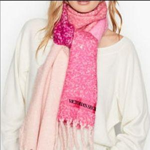 Victoria's Secret• scarf color block fringe pink